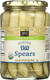 365 Everyday Value, Organic Dill Spears, 24 fl oz