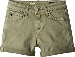 AG Adriano Goldschmied Kids The Karlie Roll Cuff Shorts (Big Kids)