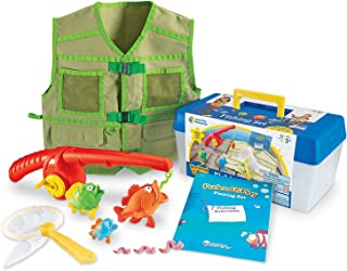 Learning Resources Pretend & Play Fishing Set, Fishing Pole & Tackle Box Toy, 11Piece, Ages 3+,Multi-color,12-1/4 L x 9 W ...