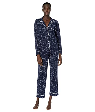Eberjey Sleep Chic The Long Boxed Pajama Set (Estrella Navy/Ivory) Women