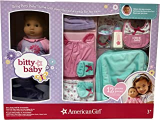 American Girl Bitty Baby Doll BB5 with 12 Piece Green Accessory Set
