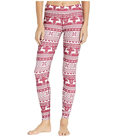 Hot Chillys Micro Elite Chamois Print Tights (Santa Baby) Women