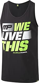 Blanco 2X-Large Hombres Graphic 434 Chaleco Musclepharm MPVST434 MUSCLE PHARM PRINTED VEST WHITE XX LARGE