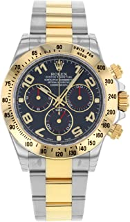 Rolex Daytona 116523 BLA 18K Yellow Gold & Steel Automatic Men's Watch