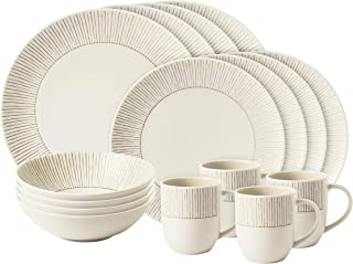 Taupe Stripe 16-Piece Set - ELLEN DEGENERES COLLECTION CRAFTED BY ROYAL DOULTON