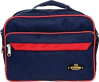 AS Grabion Men's Polyester Blue Red Messenger Bag