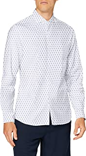 Cortefiel Shirt Print Slim-camde Camisa Casual para Hombre