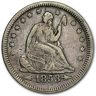 1853 Liberty Seated Quarter w/Arrows & Rays VF Quarter Very Fine