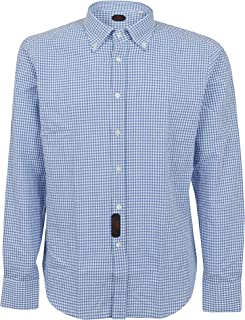 MASSIMO PIOMBO Luxury Fashion Mens CAMICIALA8117 Light Blue Shirt | Spring Summer 20