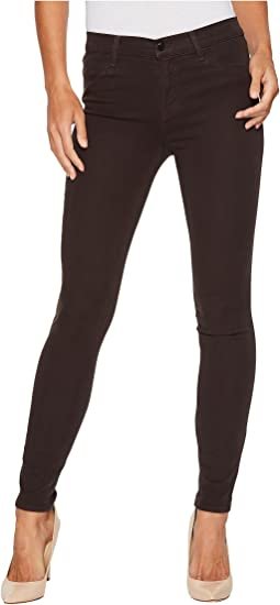 J Brand - 485 Mid-Rise Super in Skinny Dark Charcoal