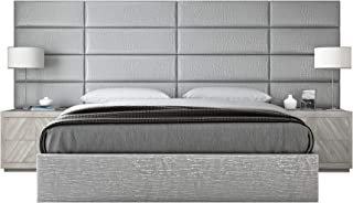VANT Upholstered Headboards - Accent Wall Panels - Packs of 4 - Pearl Silver - 39
