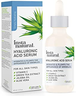 InstaNatural - Hyaluronic Acid Serum - With Vitamin C, Organic & 100% Pure Ingredients for Dry Skin, Wrinkle, Fine Line, E...