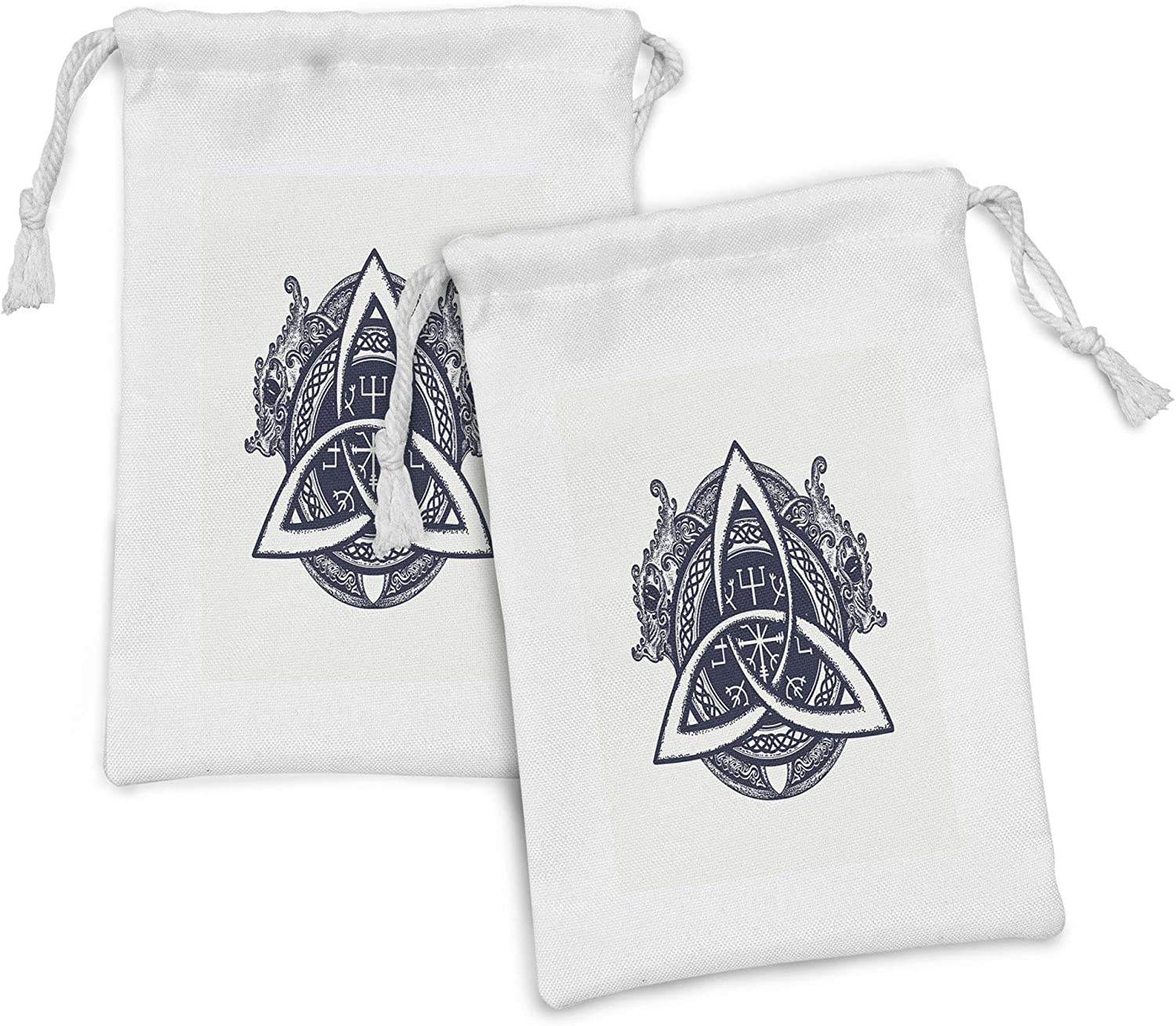 Ambesonne Very popular Celtic Dragon Fabric Pouch Set with Knot 2 Serpent of 100% quality warranty!