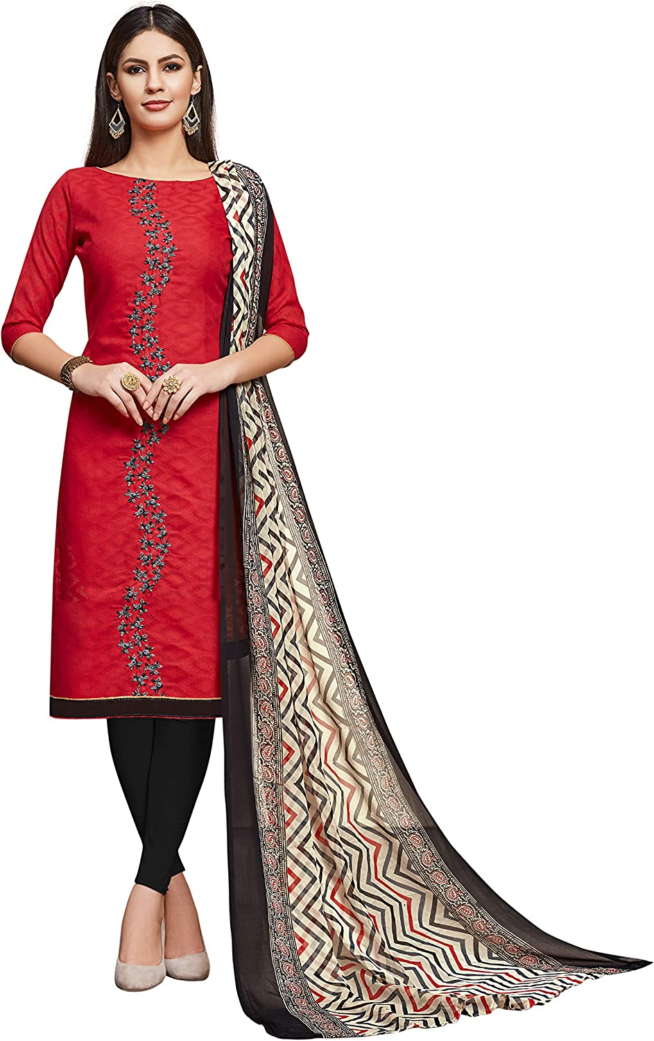 Ready to wear Indian Traditional Straight Churidar Salwar Suit for Women and Girls