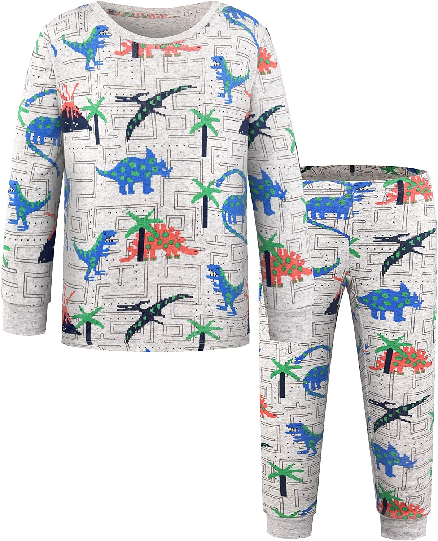 DAWILS Boys Halloween Pajamas Dinosaurs Pumpkin Sleepwear Toddler Pjs Nightwear