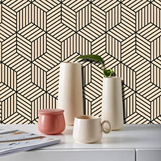 """17.71""""x197"""" Geometric Wallpaper Peel and Stick Wallpaper Contact Paper Home Decoration Luxury Removable Self-adhesive Wall..."""
