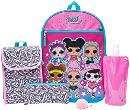 L.O.L. Surprise! Backpack Combo Set - Girls' 6 Piece Backpack Set (Light Pink)