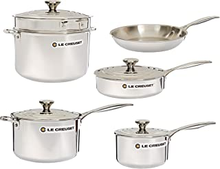 Le Creuset SSP14110 Tri-Ply Stainless Steel Cookware Set, 10-Piece