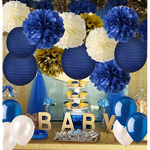 Royal Blue And Gold Baby Shower Decorations Amazon Com
