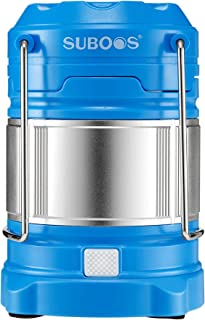 SUBOOS Ultimate Rechargeable LED Lantern and 5200mAh Powerbank - 4 Light Modes-Dual Power - Great for Camping Hiking, Auto Emergencies - Batteries and Hanging Clip Included