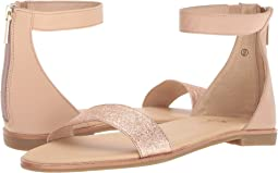 Nude/Rose Gold Nappa/Metallic Leather