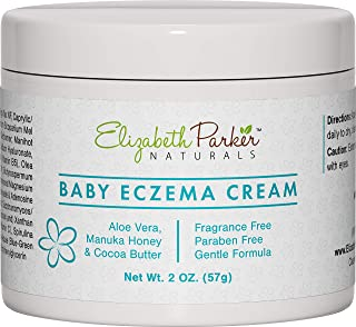 Baby Eczema Cream for Face & Body - Organic and Moisturizing Eczema Lotion with Manuka Honey Aloe Vera and Shea Butter - Relieves Cradle Cap, Diaper Rash, Redness, Dry and Itchy Skin (2 oz)