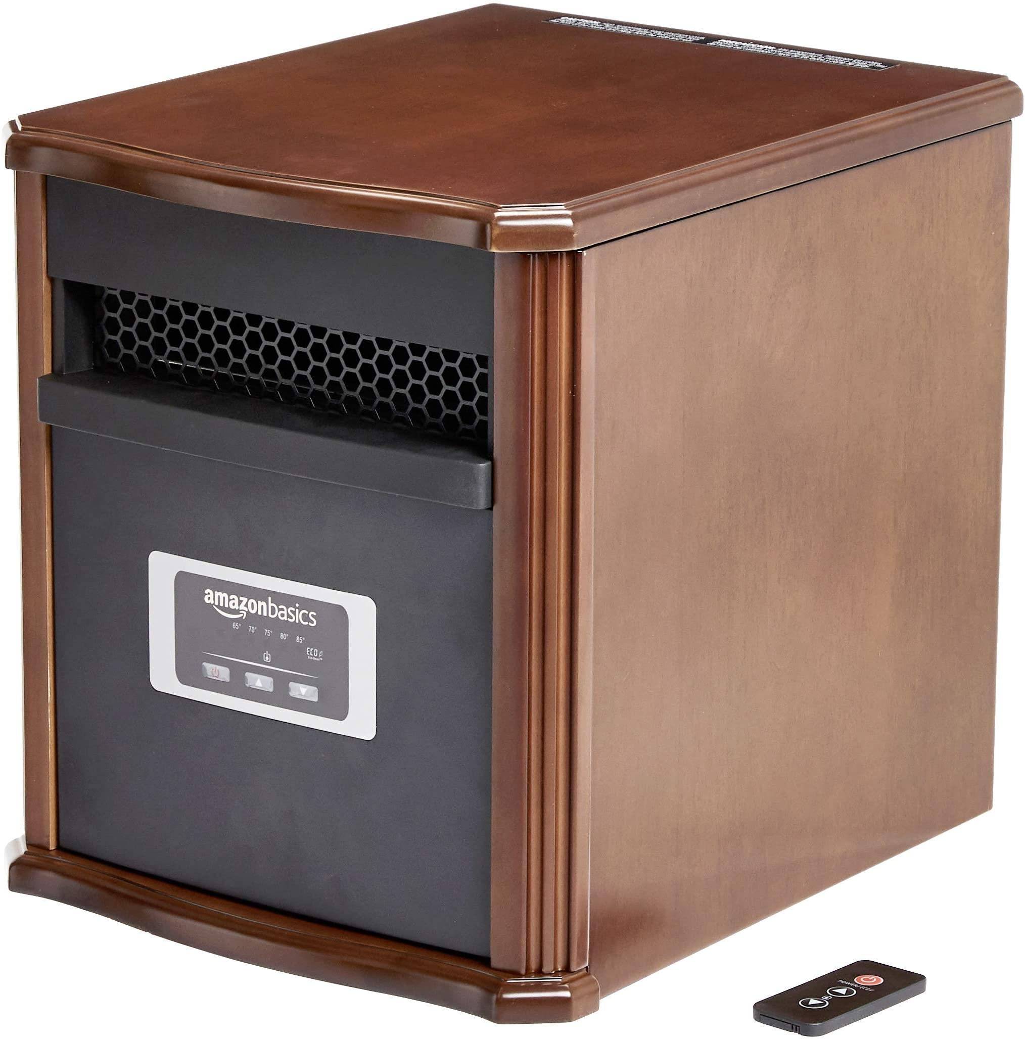 Amazon Basics Portable Eco-Smart Space Heater - Wood