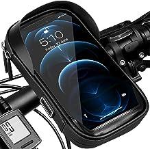 Soporte para teléfono de bicicleta Bolsa de manillar impermeable Soporte de bicicleta, Bolsa de cuadro de ciclismo giratoria táctil para teléfono inteligente móvil de 5,5 a 7,0 pulgadas