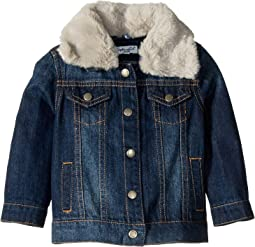 Denim Jacket with Faux Fur Collar (Infant)