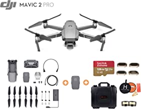 Mavic 2 Pro with Extra Battery, Ultimate Bundle, Smartree Waterproof Hard Case, 4-Filter Set (CPL ND8 ND16 ND32), 128 GB Extreme MicroSD, Landing Pad, and More