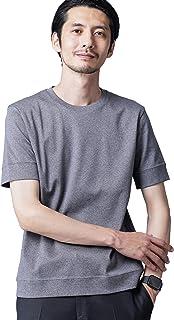 [ナノユニバース] FORMAL JERSEY クルーネック カットソー 半袖 メンズ