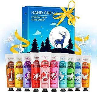 Crema per le Mani, Luckyfine Crema Mani Set Regalo, Confezione Regalo Donna, Idratante cura della mano Crema Viaggi Gift,I...