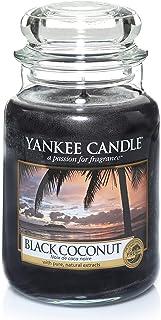 Yankee Candle bougie jarre parfumée | grande taille | Noix de coco noire | jusqu'à 150 heures de combustion