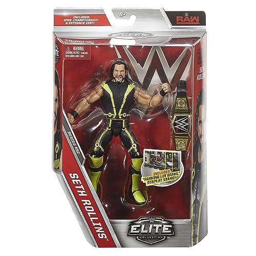 WWE SETH ROLLINS WORLD HEAVYWEIGHT BELT ELITE SERIES 45 WRESTLING FIGURE ACTION