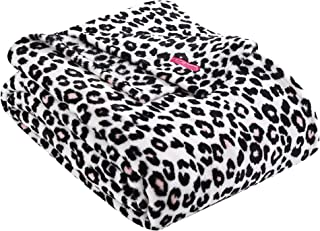 Betsey Johnson | Leopard Collection | Blanket - Ultra-Plush Fleece - Oversized Bedding - Luxuriously Warm - Machine Washable, Full/Queen, Leopard Pink