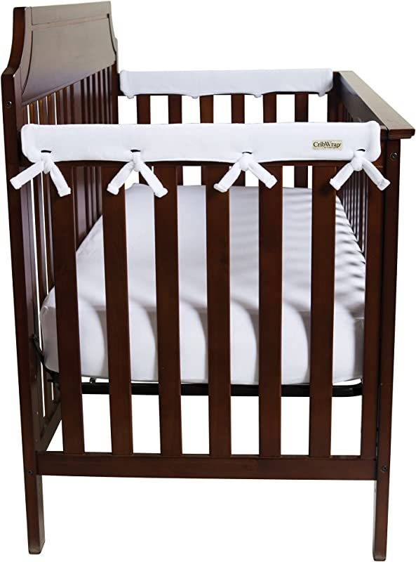 Trend Lab Waterproof CribWrap Rail Cover For Narrow Side Crib Rails Made To Fit Rails Up To 8 Around Pack Of 2