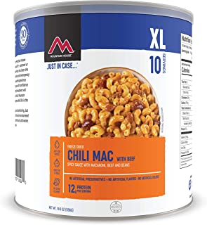 Mountain House Chili Mac with Beef XL | Freeze Dried Survival & Emergency Food | #10 Can