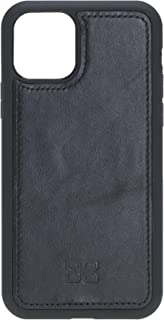 Bouletta Handmade Genuine Leather Protective Phone Back Cover Case for Apple iPhone 11 (XI) 6.1'' (Black)