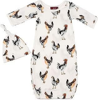 Organic Cotton Gown and Hat Set Chicken 0-3 Months …