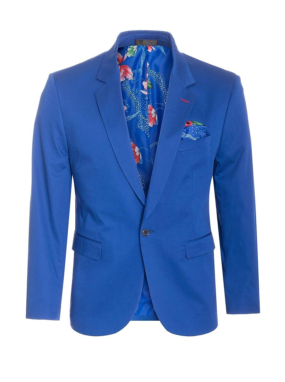 Perruzo Men's Stylish Slim Fit Blazer Sports Coat