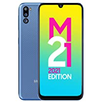 [For ICICI & Kotak Credit Card] Samsung Galaxy M21 2021 Edition (Arctic Blue, 4GB RAM, 64GB Storage)