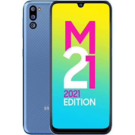 Samsung Galaxy M21 2021 Edition (Arctic Blue, 4GB RAM, 64GB Storage) | FHD+ sAMOLED | 6 Months Free Screen Replacement for Prime