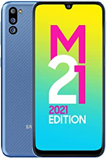 Samsung Galaxy M21 2021 Edition (Arctic Blue, 4GB RAM, 64GB Storage) | FHD+ sAMOLED | 6 Months Free Screen Replacement for...