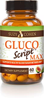 Sponsored Ad - GlucoScript MAX with Fig Fruit, Cinnamon, Gymnema and Blueberry to Manage Glucose, Insulin, Cholesterol and...