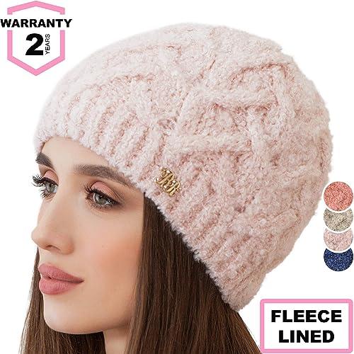 92e7f6a8e63 Braxton Beanie for Women - Knit Winter Warm Fashion Fleece Hat - Wool Snow  Boucle Outdoor