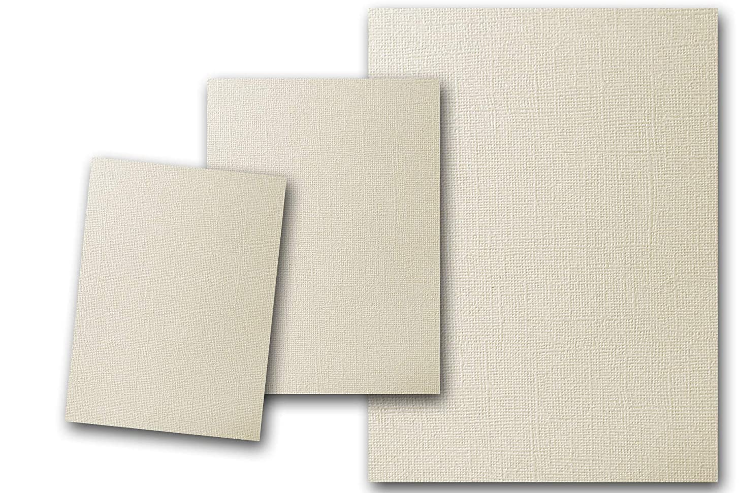 Premium Pearlized Metallic Textured Dove Ivory Card Stock 80 Sheets - Matches Martha Stewart Dove - Great for Scrapbooking, Crafts, Flat Cards, DIY Projects, Etc. (4 x 6)