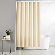 Amazon Brand - Solimo Emboss 100% PEVA Shower Curtain, 72 inch x 79 inch, Beige