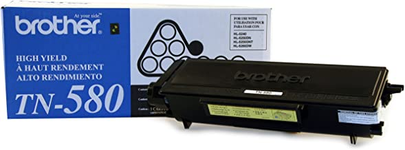 Brother TN580 High Yield Toner Cartridge - Retail Packaging - Black