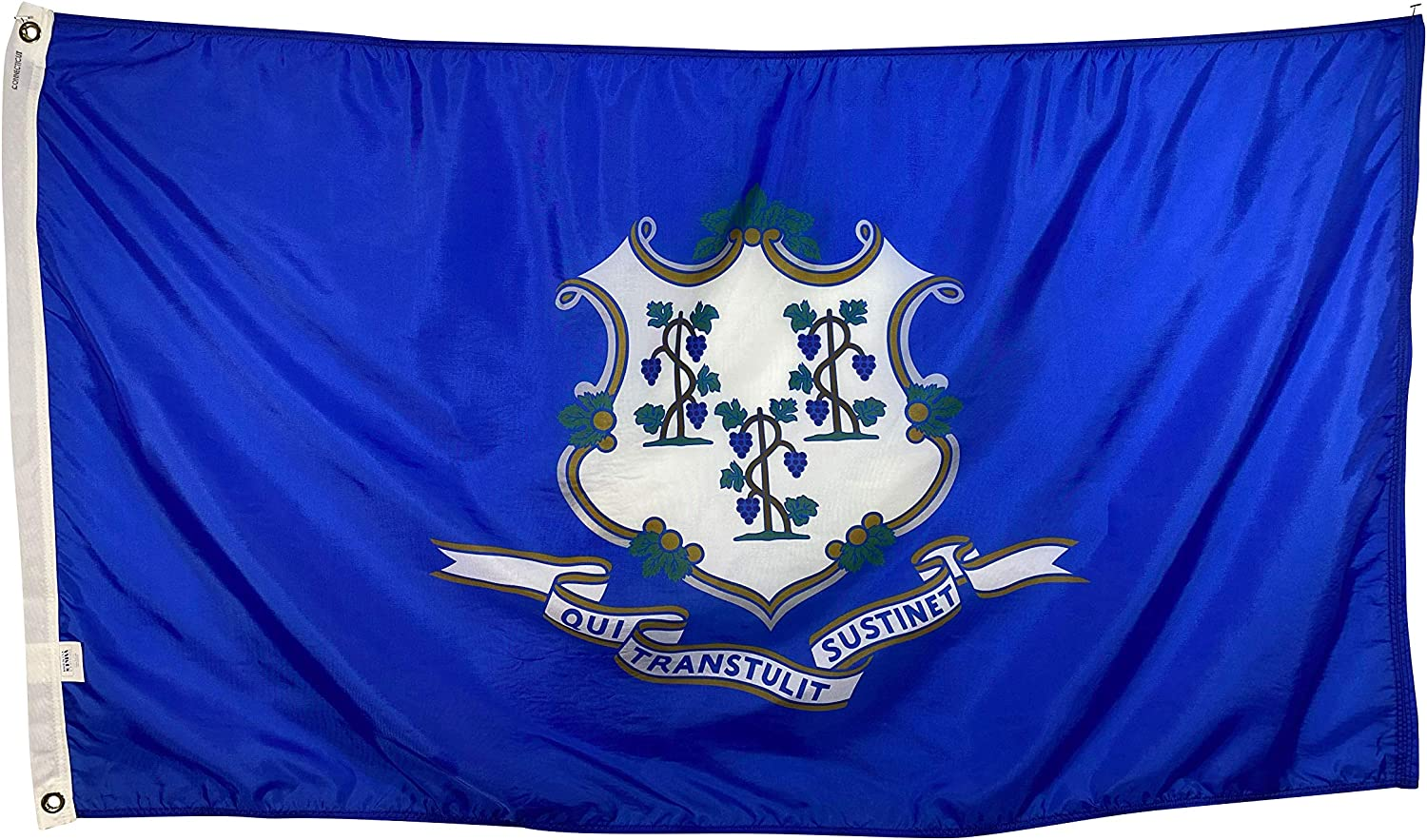 4x6' Connecticut State 定価 Flag - Nylon Weather Reinforced All 正規取扱店 Fly