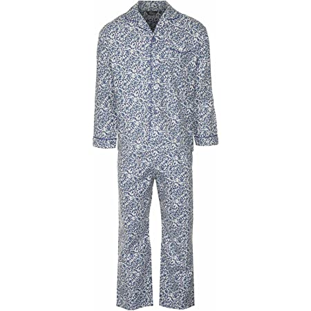 Champion Mens Paisley Warm Brushed Cotton Pyjama Lounge Wear - Blue - S